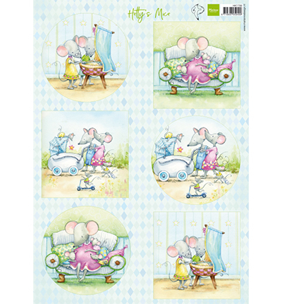 Marianne Design knipvel HK1709 Hetty's mice baby
