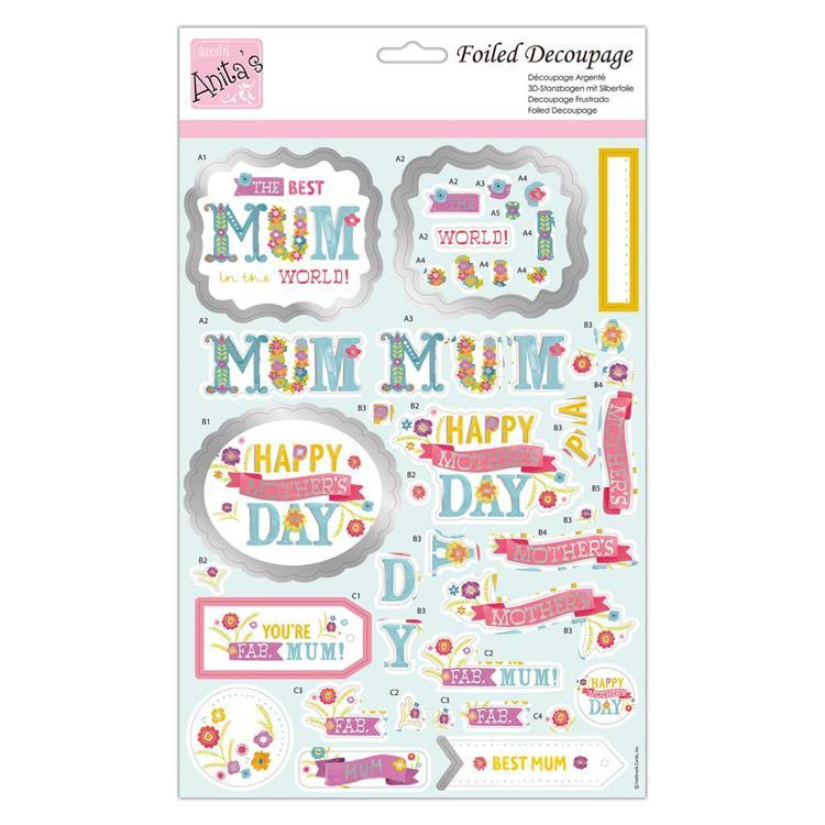 Foiled Decoupage - Fab Mum!