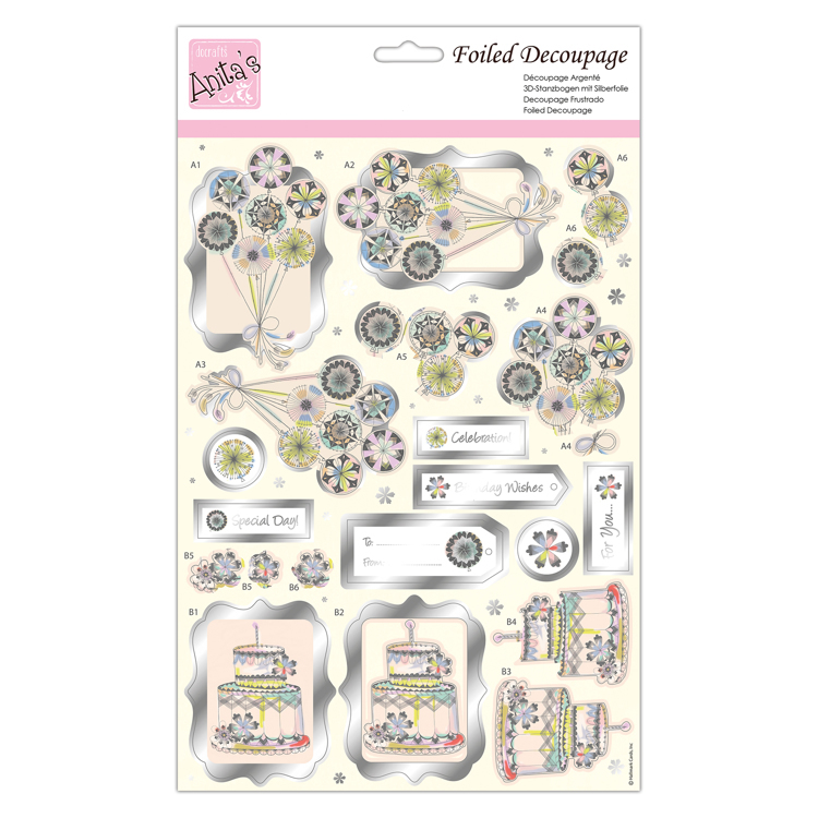 Foiled Decoupage - Balloons For You
