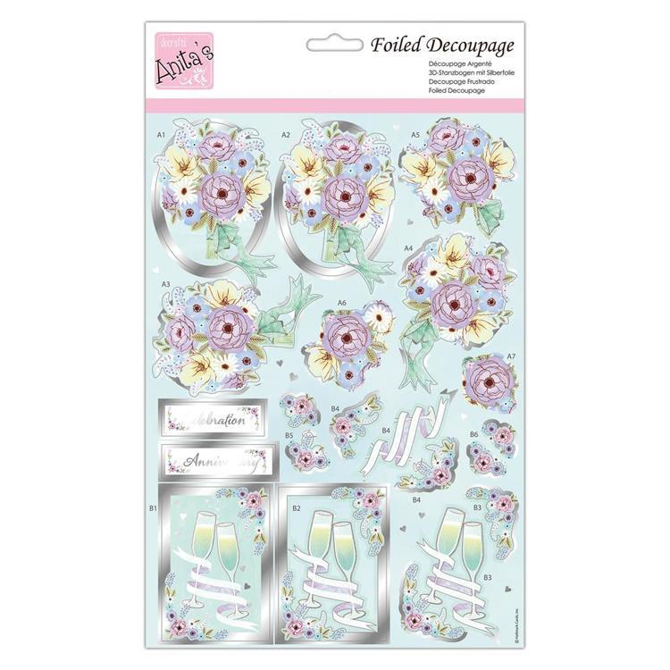 Foiled Decoupage - Wedded Bliss