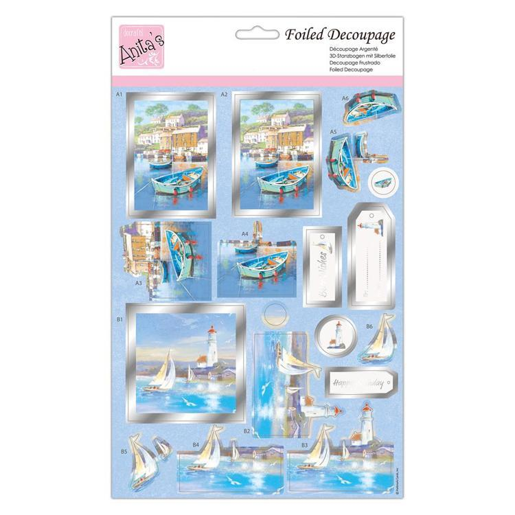 Foiled Decoupage - Sail Away