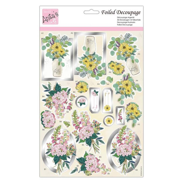 Foiled Decoupage - Beautiful Blooms
