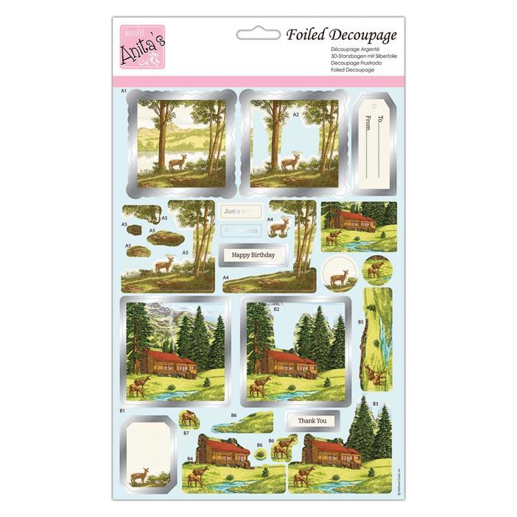 Foiled Decoupage - Deer Valley