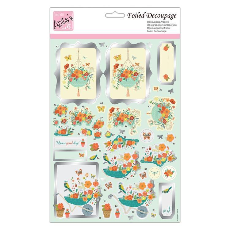 Foiled Decoupage - Spring Has Spring