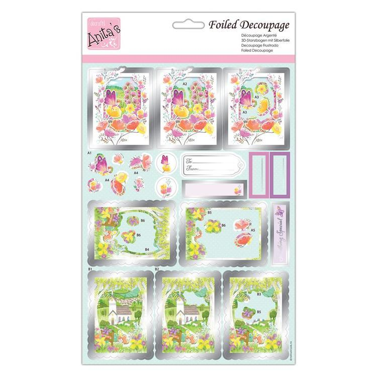 Foiled Decoupage - Butterfly Meadow