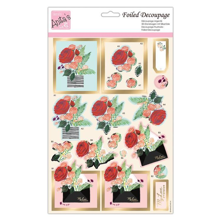 Foiled Decoupage - Just for You