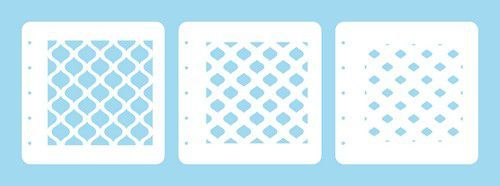 Nellie's Choice Layered combi stencil set (set of 3) Oosters ovaal LCSEO001 125x125mm (02-20)