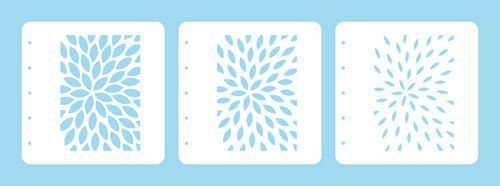 Nellie's Choice Layered combi stencil set (set of 3) Zonnestralen LCSS001 A6 (02-20)