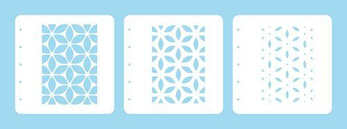 Nellie's Choice Layered combi stencil set (set of 3) Bloem LCSF001 A6 (02-20)