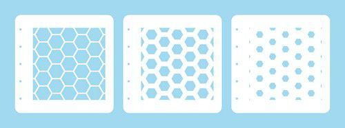 Nellie's Choice Layered combi stencil set (set of 3) Honingraat LCSH001 125x125mm (02-20)