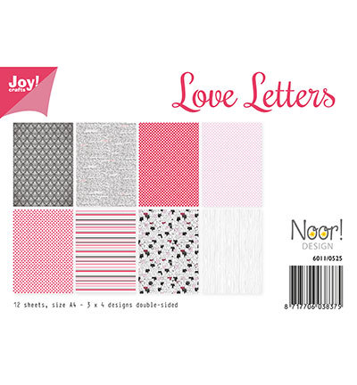 Joy!Crafts Papierset Design Love Lettters
