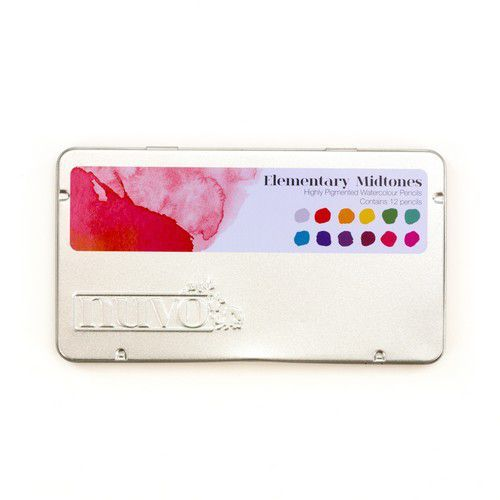 Nuvo watercolour potloden - Elementary Midtones 523N (01-20)