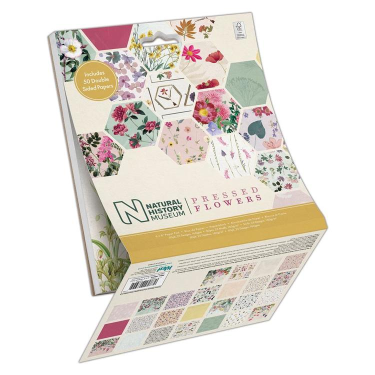 "6 x 6"" Paper Pad (50pk) - Pressed Flowers"