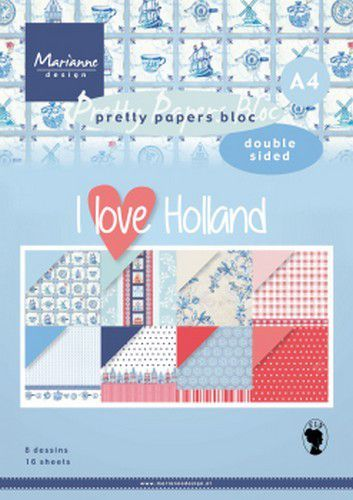 Marianne D Paperpad I love Holland A4 PK9168 A4 (04-20)