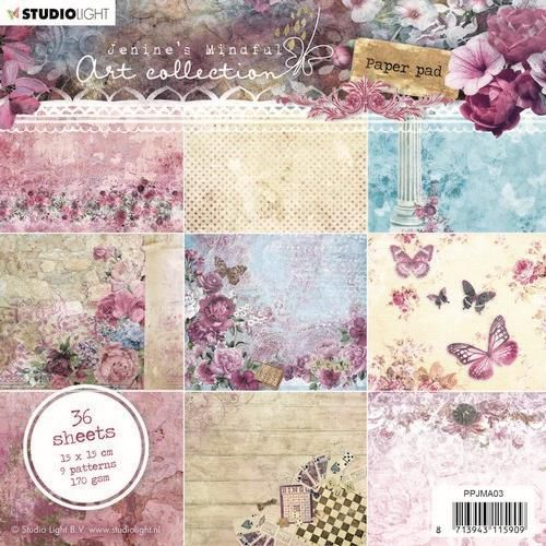 Studio Light paper pad Jenine's Mindful Art 3.0 nr.03 PPJMA03 15x15 cm (03-20)