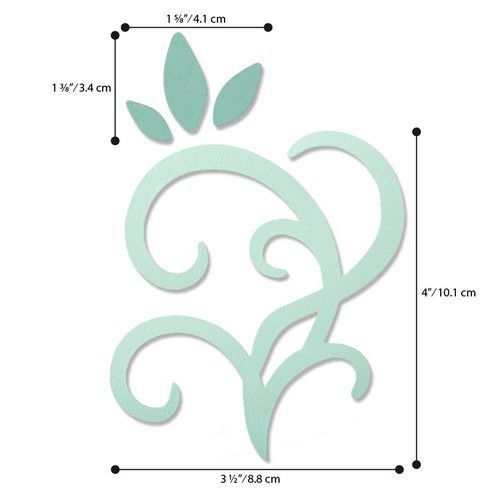 Sizzix Bigz Die - Leaves & Swirls 664403 Debi Potter (01-20)