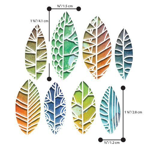Sizzix Thinlits Die  Set - 8PK  Cut Out Leaves by Tim Holt 664431 (01-20)