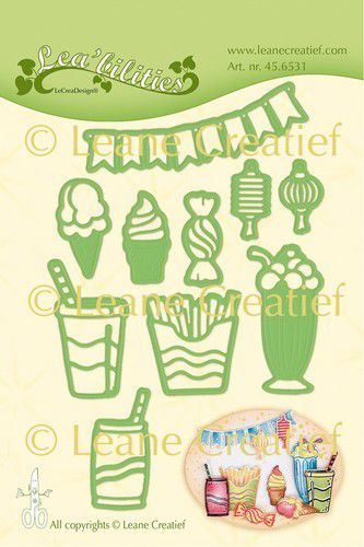 LeCrea - Leabilitie Party & snacks snij en embossing mal 45.6531 (04-20)