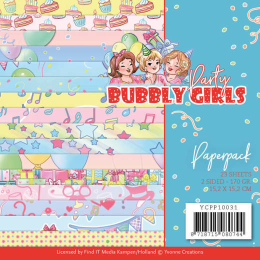 Yvonne Creations Paperpack Bubbly Girls - Party