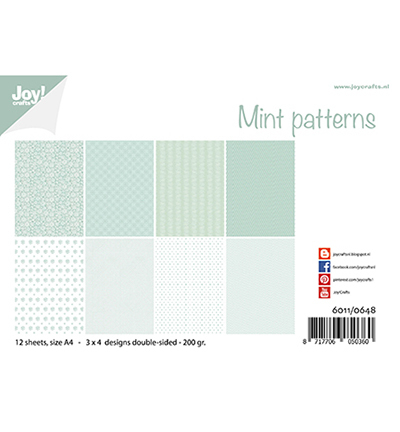Joy!Crafts Papierset Mint patronen
