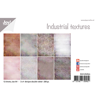 Joy!Crafts Papierset Industrieel texturen