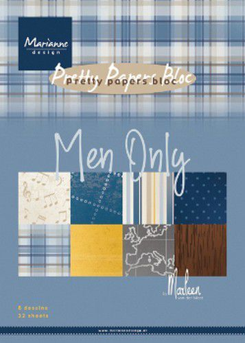 Pretty Papers Bloc PK9169 Men Only by Marleen