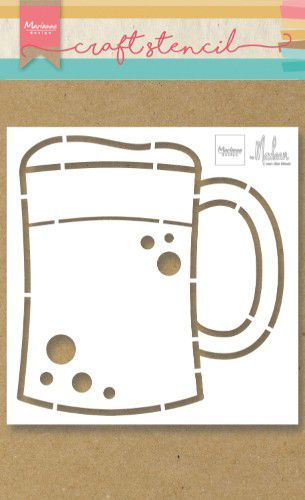 Marianne Design Craft Stencil PS8063 Bierpul by Marleen