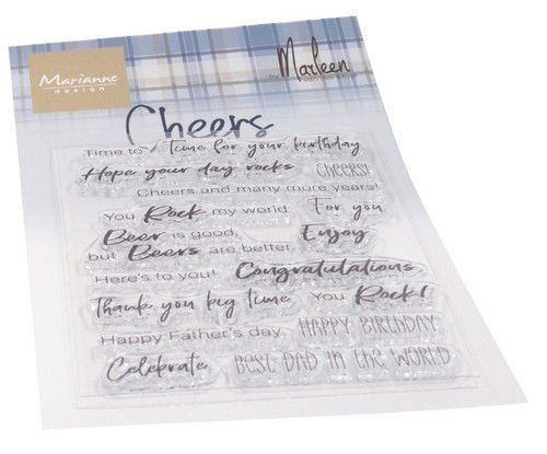 Marianne D Clear Stamps Cheers by Marleen (ENG) CS1057 183x117mm (05-20)
