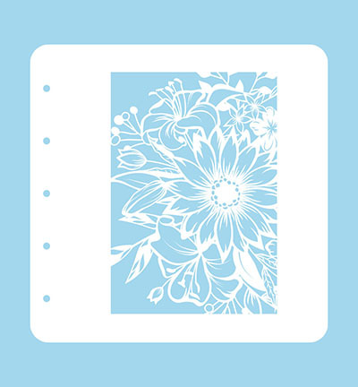 Nellies Choice Stencil voor Magnetic colour set Flower-1 A6