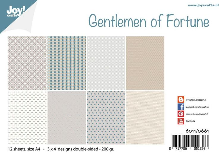 Joy!Crafts Papierset 6011/0661 Gentlemen of Fortune