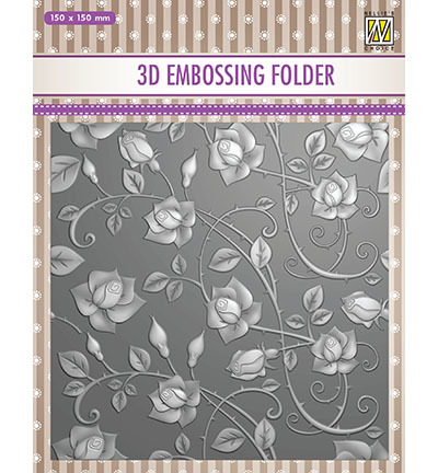 Nellies Choice 3D Embosfolder Roses