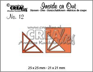 Crealies Insider or Out Corners F driehoek CLIO12 25 x 25 mm - 21 x 21 mm