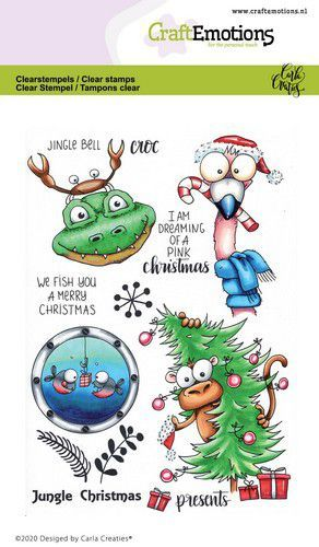 CraftEmotions stempels Jungle Christmas (07-20)