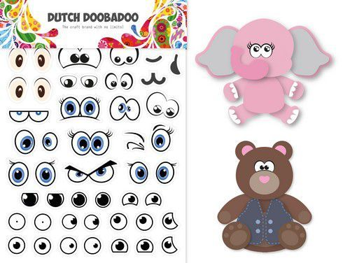 Dutch Doobadoo Dutch Sticker Art A5 Ogen 491.200.006 (07-20)