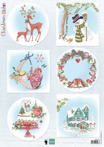 Marianne Design knipvel EWK1280 Christmas Wishes Deer