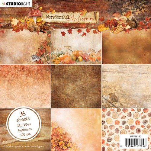 Studio Light Paper Pad Wonderful Autumn nr.150 PPWA150 15x15cm (07-20)