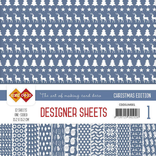 Card Deco - Designer Sheets -  Christmas Edition - ultramarijn