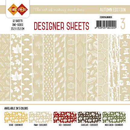 Card Deco - Designer Sheets - Autumn Colors-lichtbruin