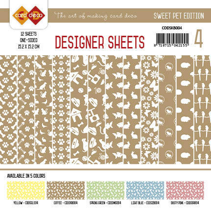 Card Deco - Designer Sheets - Sweet Pet-Koffiebruin