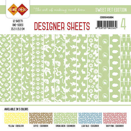 Card Deco - Designer Sheets - Sweet Pet-Meigroen