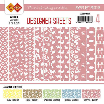 Card Deco - Designer Sheets -  Sweet Pet-Oudroze