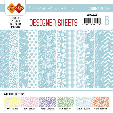 Card Deco - Designer Sheets - Spring Edition lichtblauw