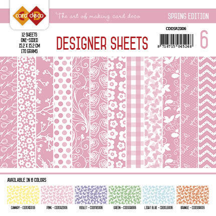 Card Deco - Designer Sheets - Spring Edition roze