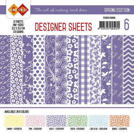 Card Deco - Designer Sheets - Spring Edition violet