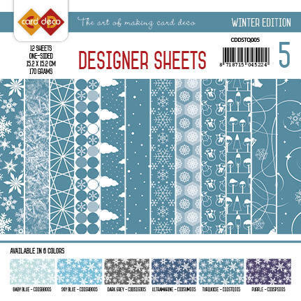 Card Deco - Designer Sheets - Winter Edition turquoise
