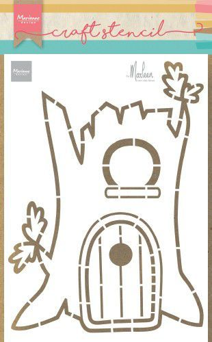 Marianne Design Craft Stencil PS8073 Treehouse by Marleen