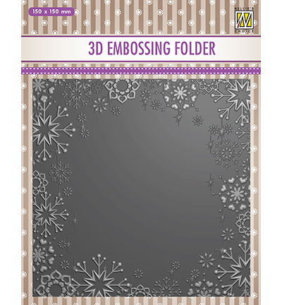 Nellies Choice embossingmal Snowflake frame-