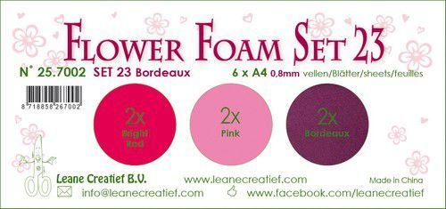 LeCrea - Flower Foam set 23 6 vl 3x2 Bordeaux 25.7002 A4 (09-20)