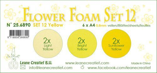 LeCrea - Flower Foam set 12 6 vl 3x2 Geel 25.6890 A4 (09-20)
