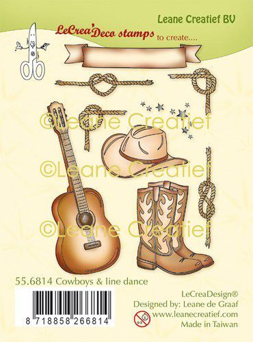 LeCrea - clear stamp combi  Cowboys & Line dance 55.6814 (09-20)